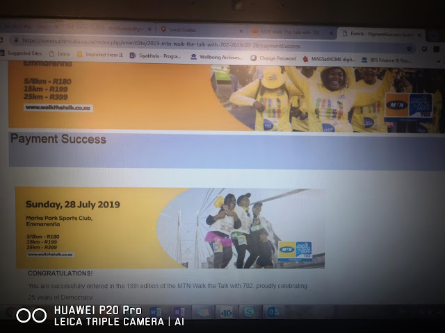 #TheLifesWayGoals - @Walkthetalk_ #MTN702WALK 25Kms on 28th July 2019 - Planning #HuaweiHealth