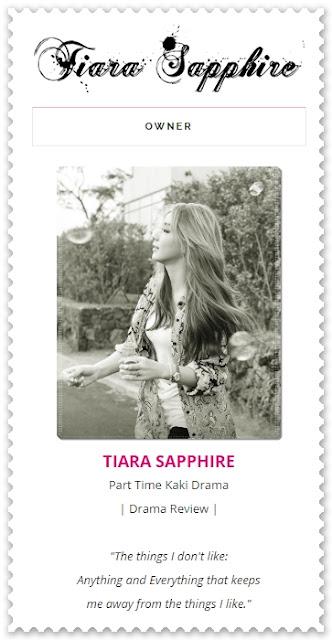 Sahabat blogger pilihan Starlavenderluna : Tiara Sapphire