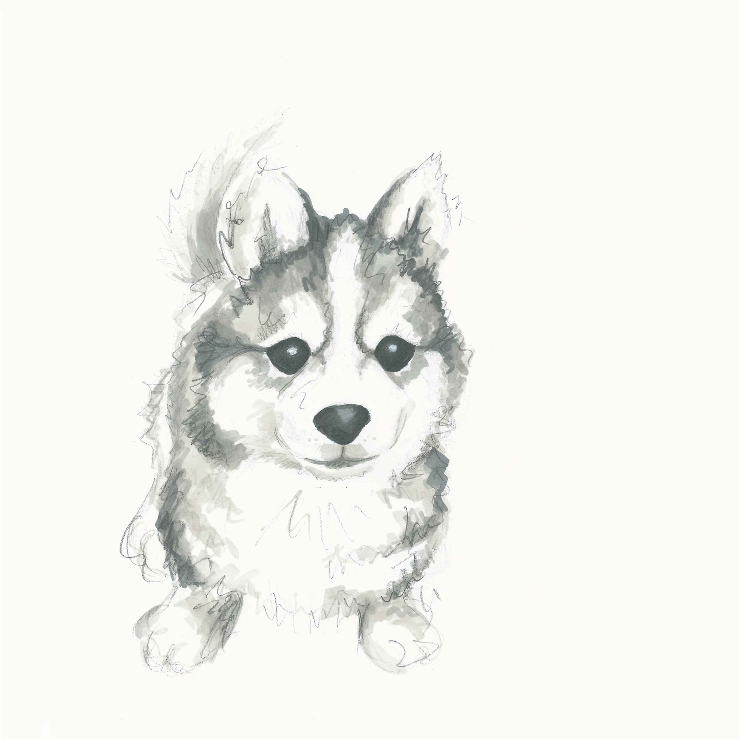 Easy Cute Cartoon Puppy Drawing