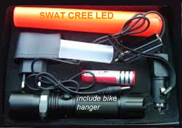 lampu senter sepeda swat