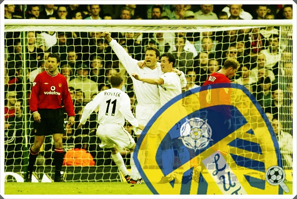 Leeds United 2001-02 Mark Viduka Manchester United Nicky Butt