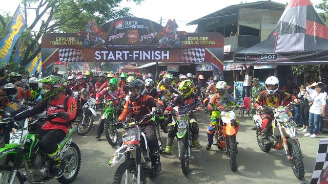 "Dandim 1414 Tana Toraja, Ikut Meriahkan Event Motor Trail ""Explore Toraja Utara"""