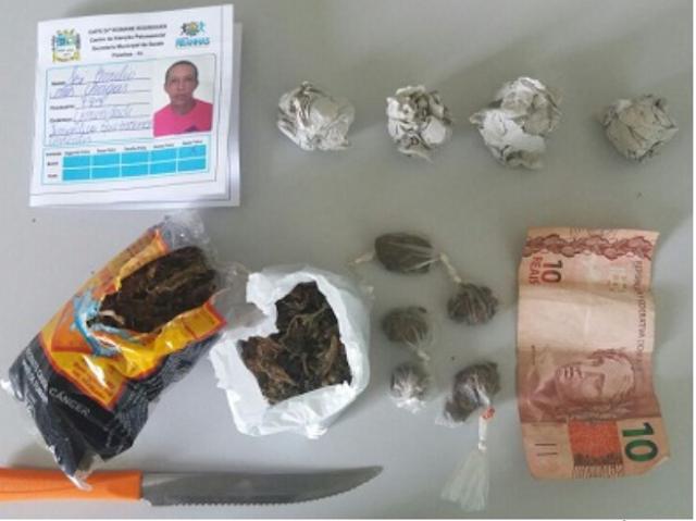 GPM de Olho D'Água do Casado prende homem com faca e drogas em um trecho da  rodovia AL 225