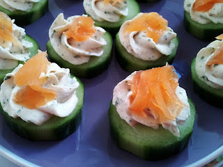 Salmon Mousse, Salmon and Cream Cheese Mousse, Salmon Mousse on Cucumber