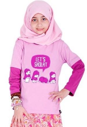 Kaos Muslim Anak Perempuan modis dan islami