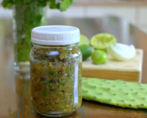 Roasted Nopalito Tomatillo Salsa, another creative vegetable recipe ♥ AVeggieVenture.com
