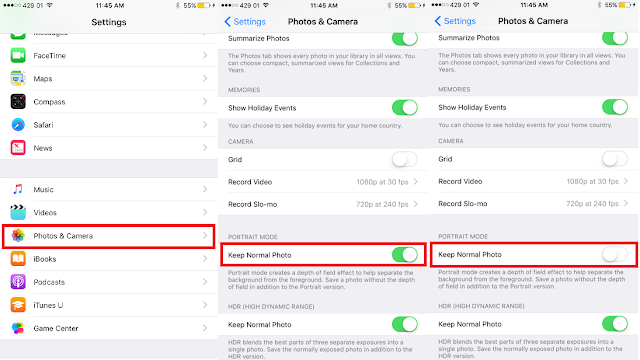 Want to disable Portrait Mode from saving two photos automatically on your iPhone 7 Plus? Here's a little trick by which you can easily turn off and stop the Portrait Mode from taking two photos.