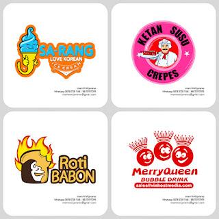 desain logo bubble drink