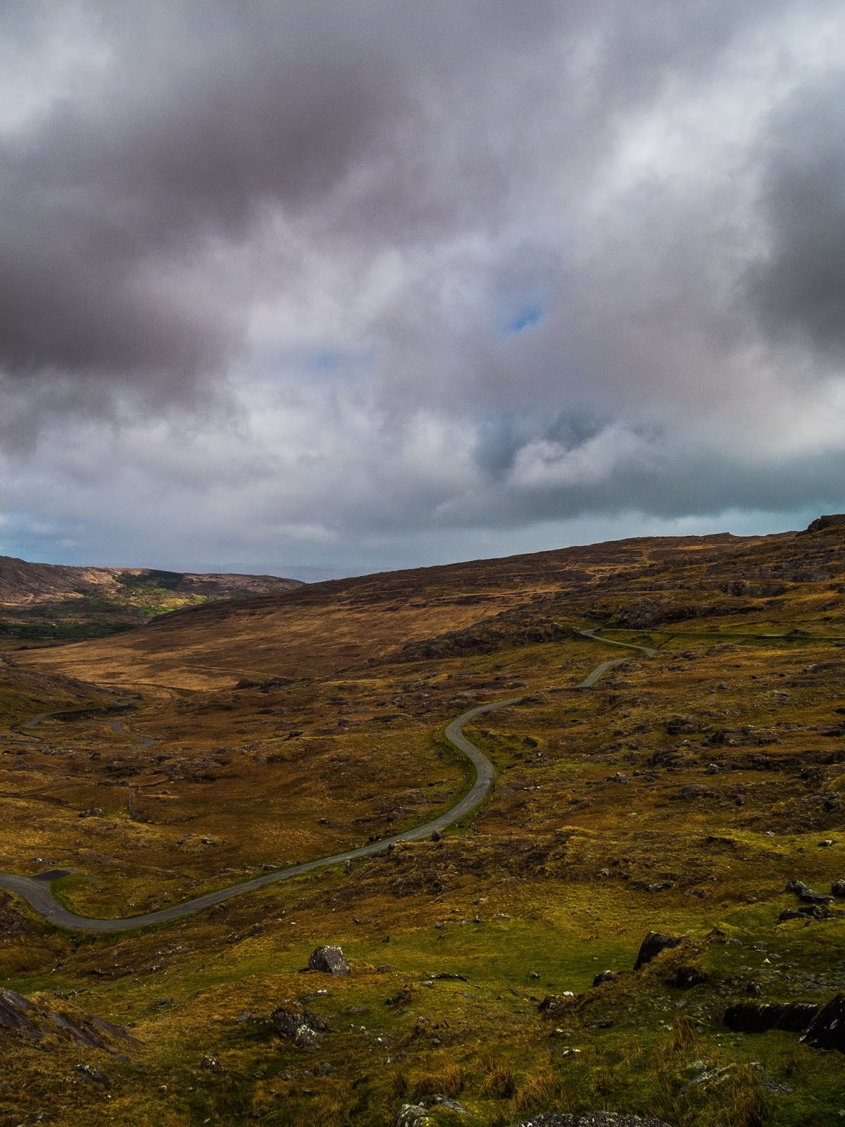 A view of the winding Healy Pass in the Caha Mountain range pictured at the border of Cork and Kerry.