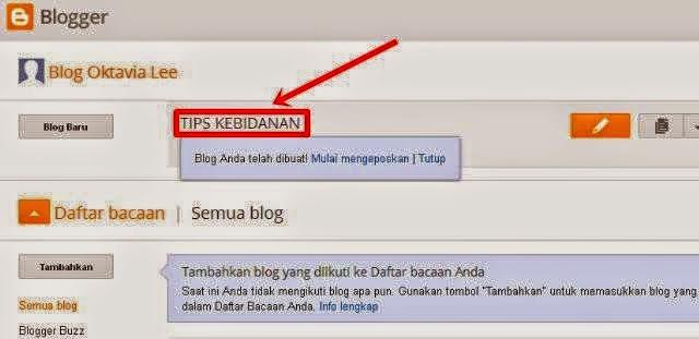 Cara Mudah Membuat Blog Untuk Pemula 5