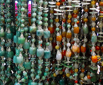 beads with many hues and forms