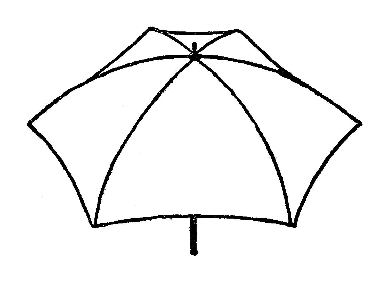 Digital Stamp Design Stock Umbrella Vintage Images
