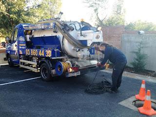 Camión Cuba para la limpieza de tuberías y desatascos (Badalona)