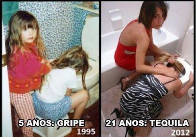 Humor amigas antes y despues tequila
