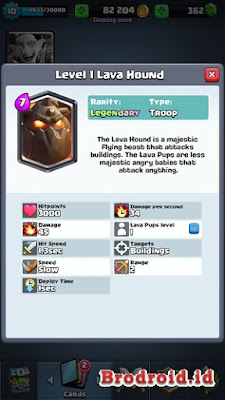 Lava Hound Kartu Legendary Clash Royale