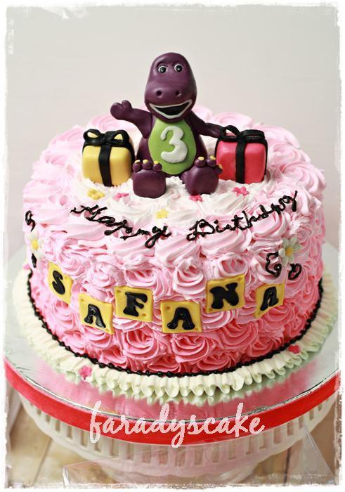 Barney Cake Decorating Instructions
