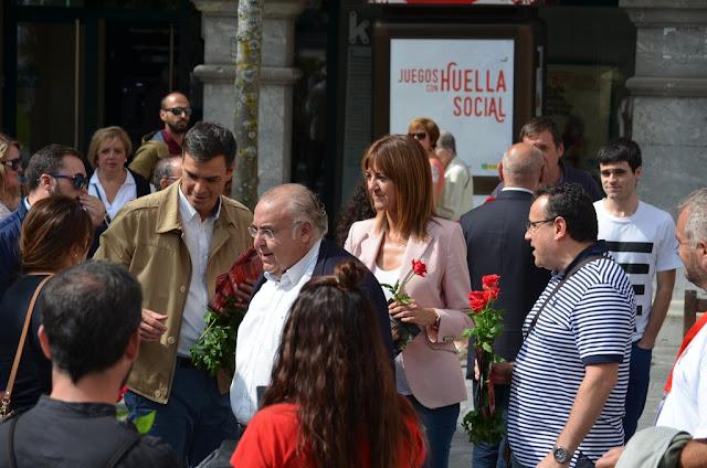 Pedro Sánchez en Barakaldo la campaña electoral de las elecciones al Parlamento Vasco de 2016