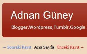 Blogger önceki sonraki sayfa ok bağlantı linkinin nasıl eklenir ?