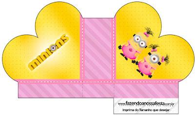 Caja abierta en forma de corazón de Minions Chicas.