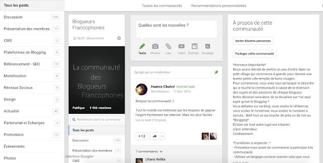 Blogueurs francophone