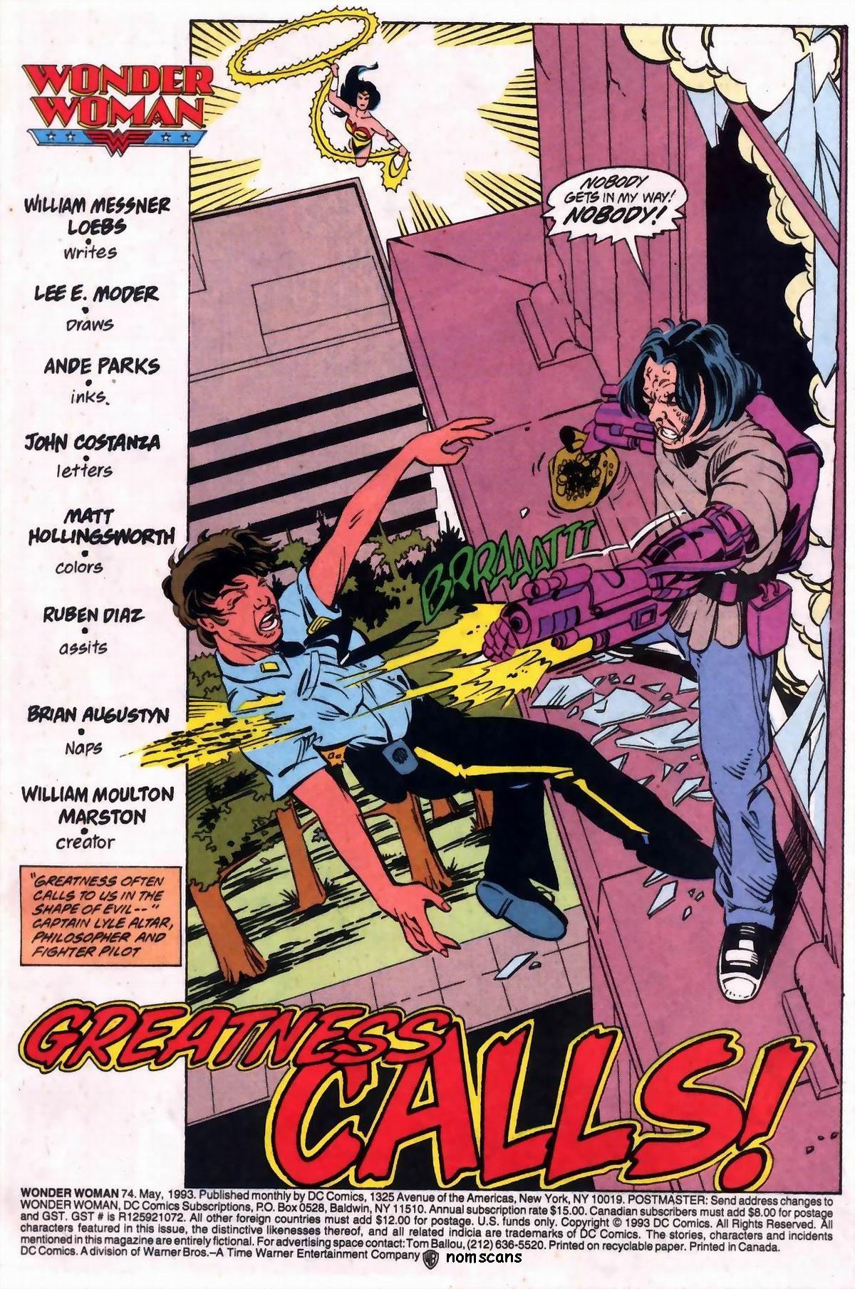 Read online Wonder Woman (1987) comic -  Issue #74 - 2