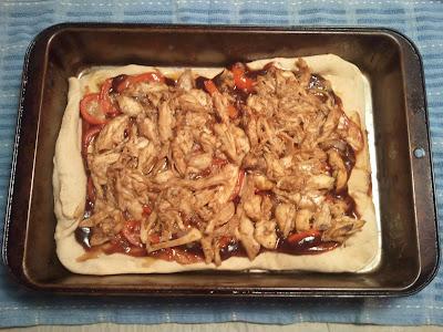 Use leftover chicken to make BBQ chicken Pizza