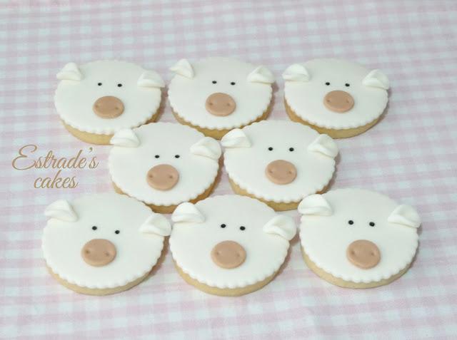 galletas de oveja con fondant 4