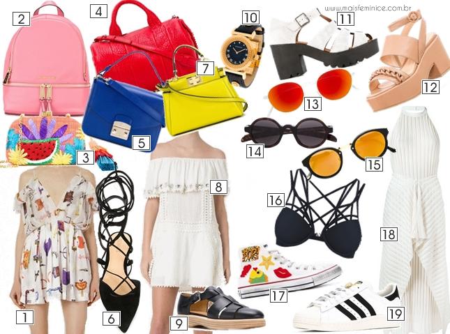 WishList de Primavera - Objetos coloridos e roupas claras