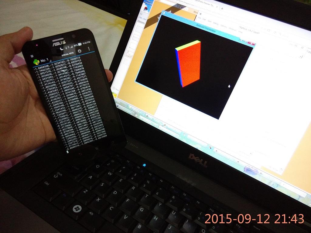 ProjectProto: PyOpenGL demo: Android Orientation