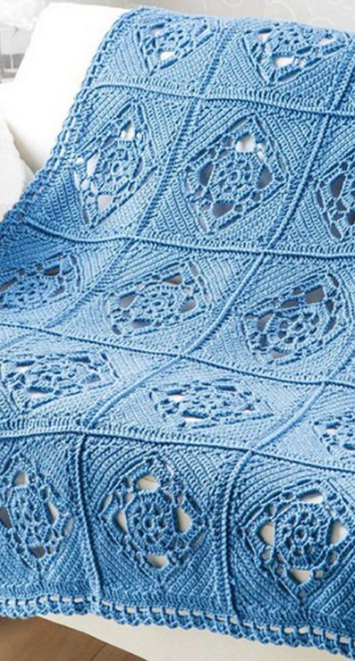 Pretty Openwork Motif - Free Crochet Diagram