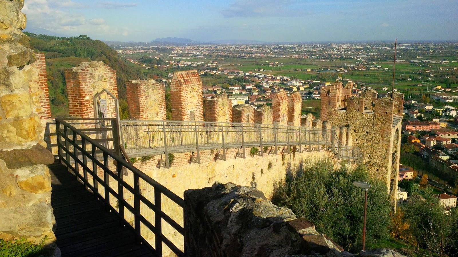 The defensive walls of Marostica, Veneto, Italy