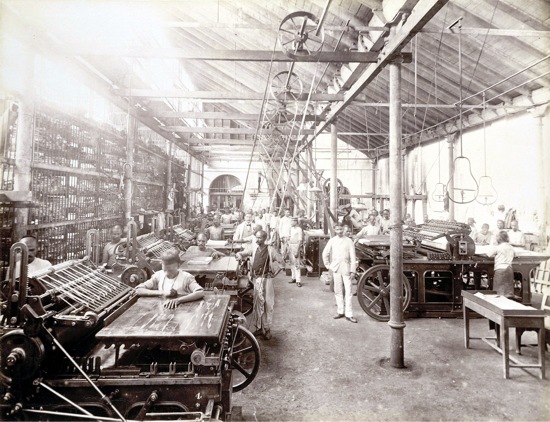The Times of India, machine room in 1898