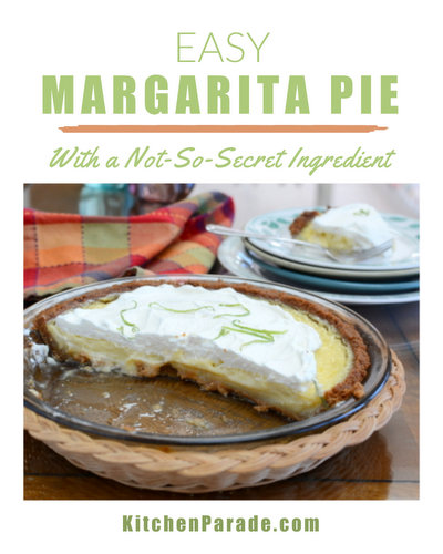Easy Margarita Pie ♥ KitchenParade.com, tastes just like a good margarita.