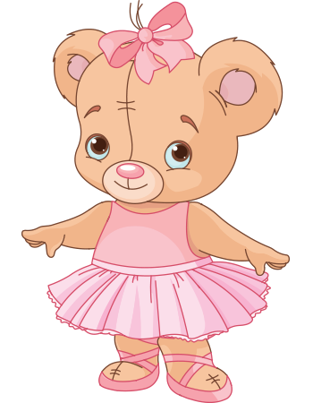 Pretty ballerina bear