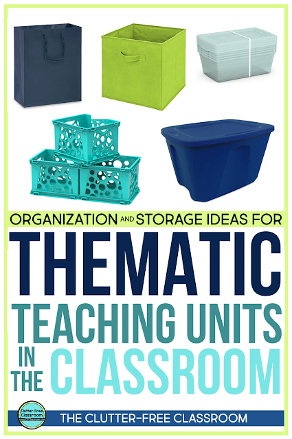 Where do you store tools and resources for hands-on learning and thematic units? If you are looking for a better system, check out these simple tips.