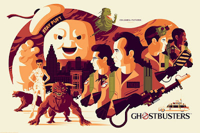 Ghostbusters Regular Edition Screen Print by Tom Whalen x Mondo