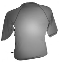 The Rib Rocket Short Sleeve Lycra/Neoprene Black/Gray, Back