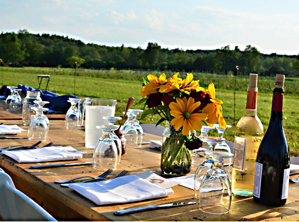 Notes On Napkins Farm To Table Dinner In A Kinderhook Field