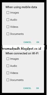 mematikan download otomatis whatsapp