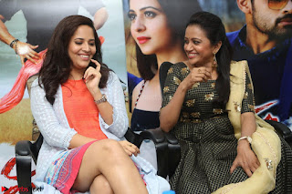 Actress Suma in Black Salwar Suit and Anusuya in orange Dress at winner movie press meet part 2 February 2017 (59).JPG