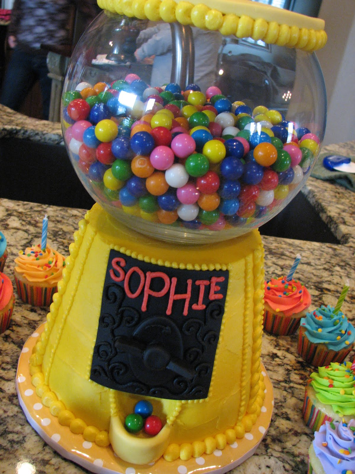 Decadent Designs Sophie S Bubble Gum Machine Birthday Cake