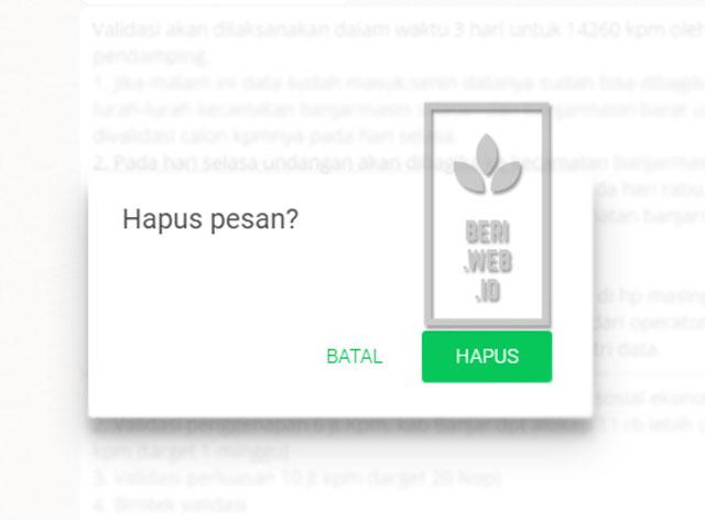 Whatsapp merilis fitur terbaru. Anda yang biasanya harus repot memindai barcode saat hendak login via PC, kini sudah teratasi lewat aplikasi. Fitur terbaru lainnya dari whatsapp adalah menghapus pesan setelah terkirim. Fitur ini berguna saat ingin menghapus pesan yang tidak diinginkan.