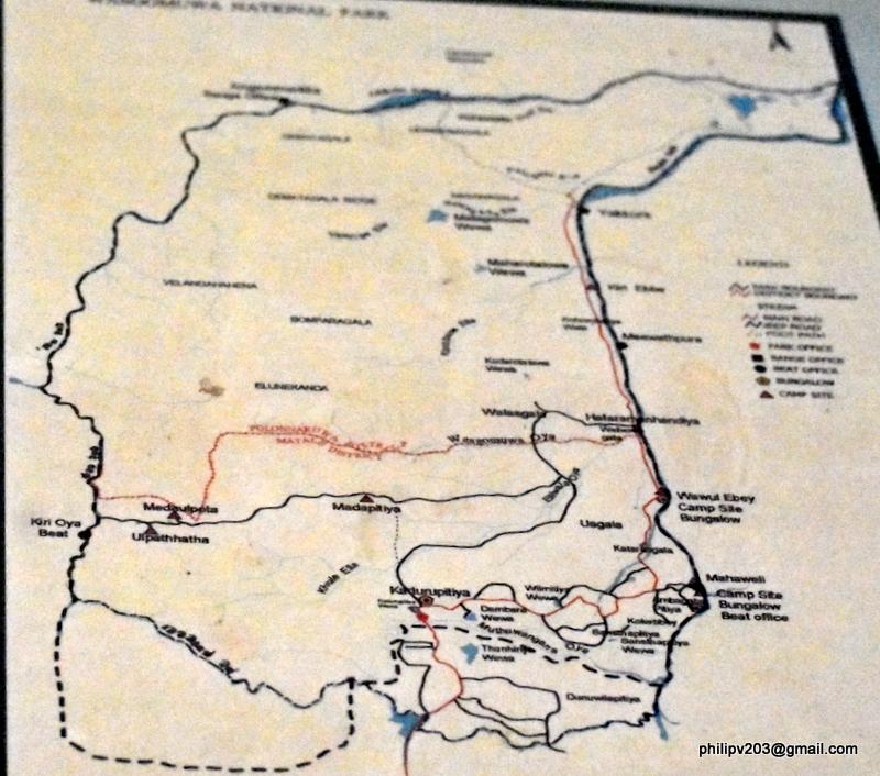 Wasgamuwa National Park Map Images of Sri Lanka on...