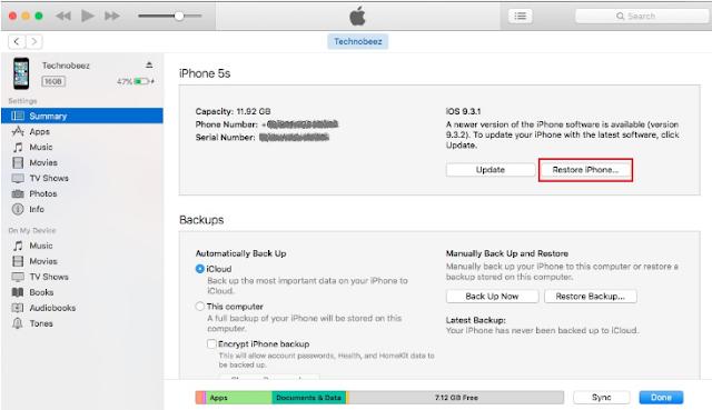 Cara Memperbaiki iPhone yang Terjebak dalam Recovery Mode/Mode Pemulihan 7
