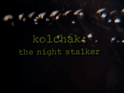 Kolchak The Night Stalker, horror tv