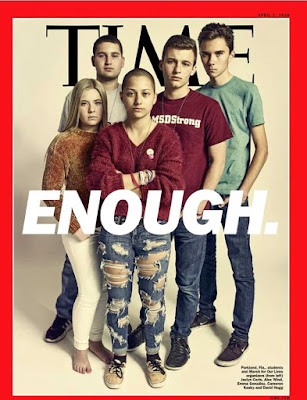 Survivors of the high-school shooting in Parkland, Florida.