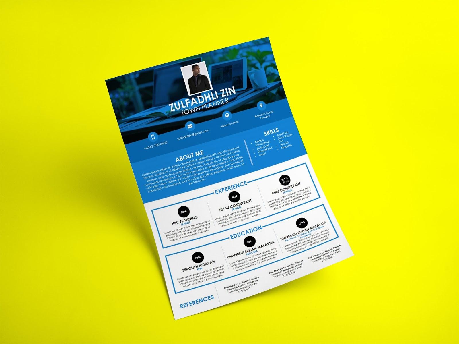 Muat turun 3 template resume cv dalam bentuk powerpoint percuma template 1 yelopaper Choice Image