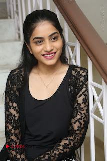 Actress Punarnavi Bhupalam Stills in Black Dress at Pittagoda Press Meet  0071.JPG