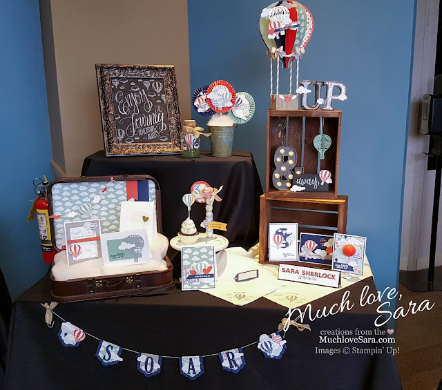 Inking Idaho on the Road Hot Air Balloon Display - Lift me up Suite by Stampin' Up