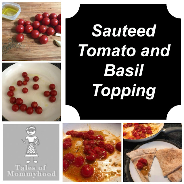 tomato, cherry tomatoes, basil, dip, topping, garlic, appetizer